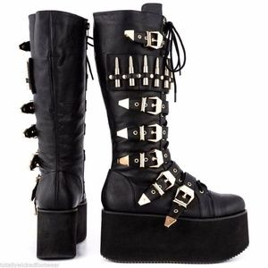 Privileged Bully Bullet Strap Platform Combat Boot